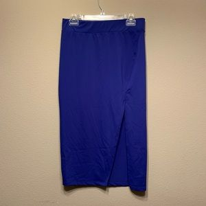 5 for $25 Leith blue midi skirt slit